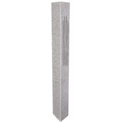 Granite Post – Gray (2 Fluted / 2 Thermal Sides)