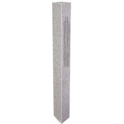 Granite Lantern Post – Gray (2 Fluted / 2 Thermal Sides)