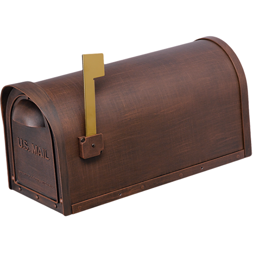 copper cast aluminum mailbox