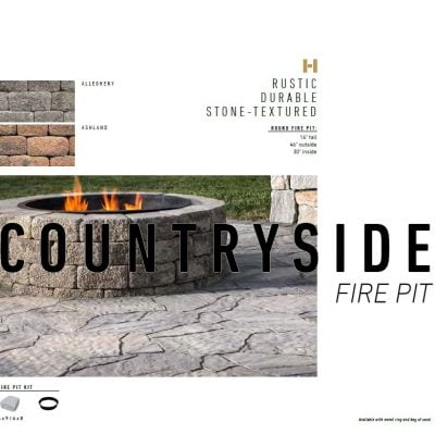 Belgard Country Side Round Fire Pit